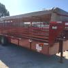 "SOLD 2016 Neckover 6'8""x24' Gooseneck Livestock Trailer Red with Buck Tarp, 2-7k Torsion axles, Brakes on all wheels, 3""x5""x5/16"" Angle Frame, 14ply Radial tires on silver mod wheels, Spare Tire Mounted on the Neck, 1'x3"" Rectangular Tubing Sides, Flush mounted LED Lights, Butterfly Gates, 2-Cut Gat"